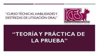 """""""Curso técnicas, habilidades y destrezas de litigación oral"""""""