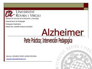 Facultad de Ciencias de la Educación y Psicología Departamento de Pedagogía Pedagogía Hospitalaria