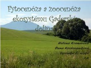 Fytocenóza a  zoocenóza  ekosystému  Gaderská  dolina