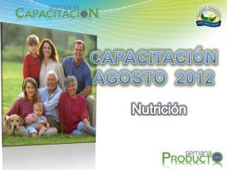 CAPACITACIÓN AGOSTO  2012