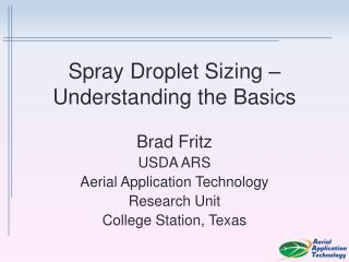 Spray Droplet Sizing – Understanding the Basics