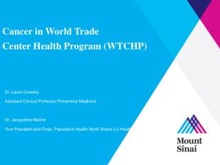 Cancer in World Trade Center Health Program (WTCHP)