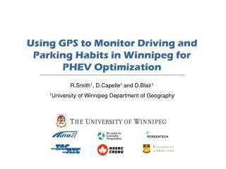 Using GPS to Monitor Driving and Parking Habits in Winnipeg for PHEV Optimization