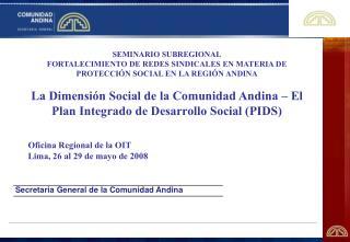Secretaria General de la Comunidad Andina
