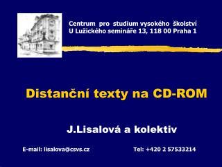 Distanční texty na CD-ROM