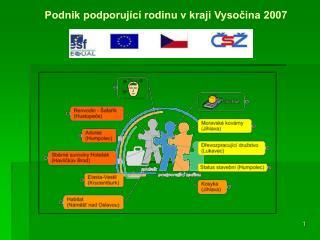 Podnik podporující rodinu v kraji Vysočina 2007