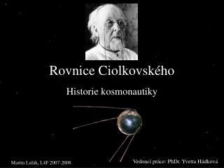 Rovnice Ciolkovského