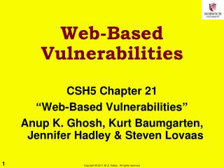 Web-Based Vulnerabilities