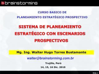 Mg. Ing. Walter Hugo Torres Bustamante
