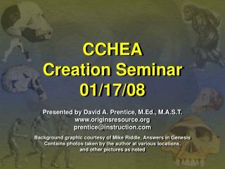 CCHEA Creation Seminar 01/17/08