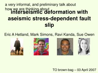 interseismic deformation with aseismic stress-dependent fault slip