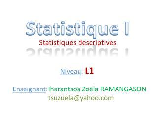 Statistique I