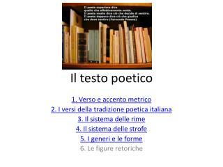 Il testo poetico
