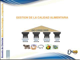 GESTION DE LA CALIDAD ALIMENTARIA