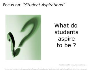 "Focus on:  ""Student Aspirations"""
