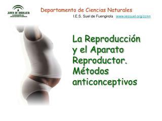 La Reproducción y el Aparato Reproductor. Métodos anticonceptivos