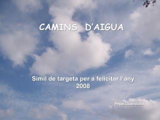 CAMINS  D'AIGUA