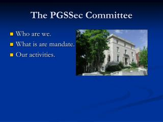 The PGSSec Committee