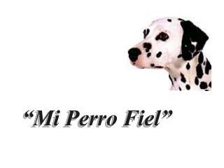 """""""Mi Perro Fiel"""""""