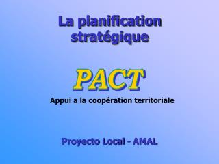 La planification strat gique