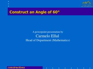 Construct an Angle of 60°