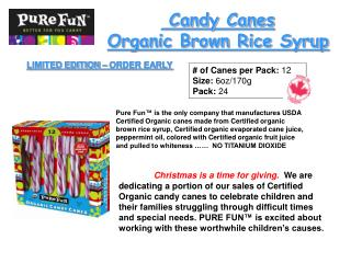 Candy Canes  Organic Brown Rice Syrup