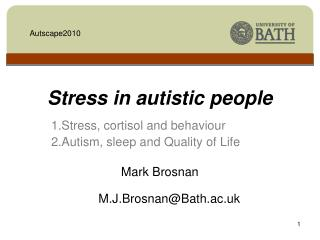 Stress in autistic people