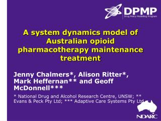 A system dynamics model of Australian opioid pharmacotherapy maintenance treatment