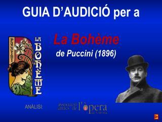 La  Bohème de  Puccini  (1896)