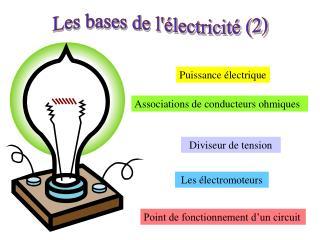 Les bases de l'électricité (2)