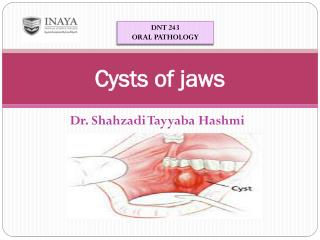 Cysts of jaws