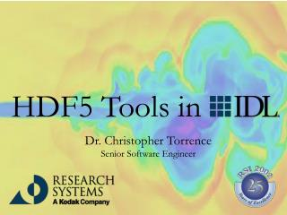 HDF5 Tools in