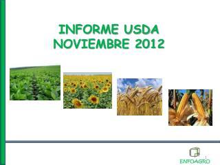 INFORME USDA  NOVIEMBRE 2012