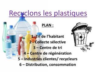 Recyclons les plastiques