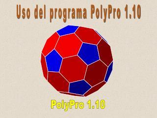 Uso del programa PolyPro 1.10