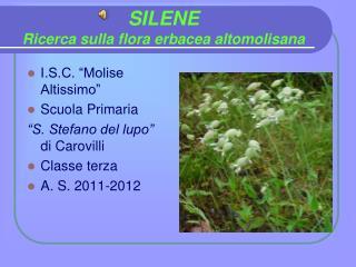 SILENE Ricerca sulla flora erbacea altomolisana