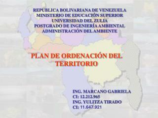 REPUBLICA BOLIVARIANA DE VENEZUELA MINISTERIO DE EDUCACIÓN SUPERIOR UNIVERSIDAD DEL ZULIA