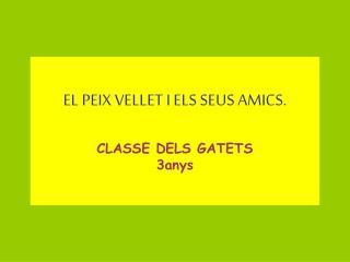 EL PEIX VELLET I ELS SEUS AMICS. CLASSE DELS GATETS 3anys