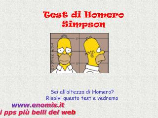 Test di Homero Simpson