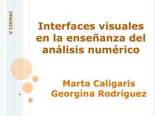 Interfaces visuales en la enseñanza del análisis numérico