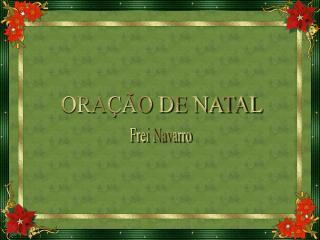 ORAÇÃO DE NATAL