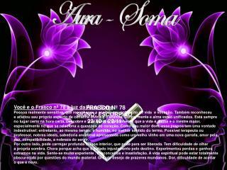 FRASCO Nº 78 SIGNO: ESCORPIÃO        23/10 a 22/11