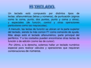 El  TECLADO .