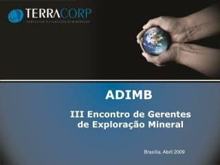 III  Encontro  de  Gerentes de Exploração Mineral