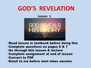 GOD'S  REVELATION