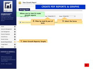 CREATE PDF REPORTS & GRAPHS