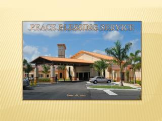 Peace  Blessing  Service