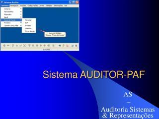 Sistema AUDITOR-PAF