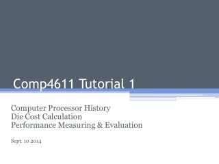 Comp4611 Tutorial 1