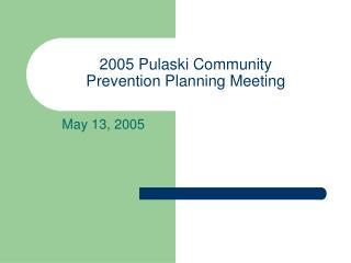 2005 Pulaski Community  Prevention Planning Meeting
